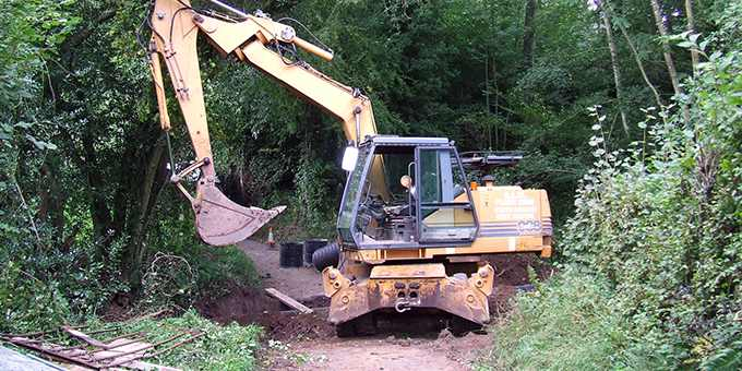 Digging culverts photo